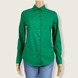 Express Ultimate Essential Green Button Up Shirt